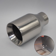 New Forged Stainless Steel Universal Race Exhaust Muffler End Pipe Tip Chrome 1x