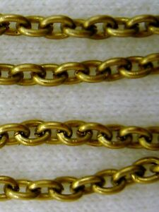 Smooth Ovals SOLID BRASS Yellow Gold Cable Chain Necklace Lobster ALL SIZES