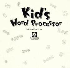 Kid's Word Processor w/ Manual PC CD creative children write book reports story