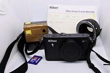 Nikon 1 J3 14.2 MegaPixels & adaptateur Nikon FT1 & Carte SD 8Go & 1 batterie