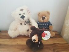 3 New Bears Soft Toys 1 Keel Pippins Brown Bear & Pms Teddy Bear & 1 Other