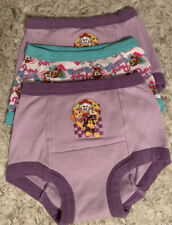 PAW PATROL TODDLER GIRLS 3 PACK ASSORTED TRAINING PANTS SIZE 3T