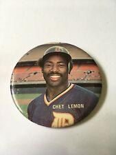 Rare Vintage Chet Lemon Detroit Tigers Pin Button