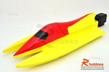 """24"""" RC EP Fiberglass Epoxy F-1 Racing Outrigger Boat Hull Red & Yellow"""