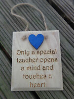 Teacher Gift Wooden Engraved Plaques Various Sayings & Bespoke End of Term Gift