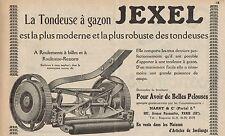 Y7213 Tondeuse à gazon JEXEL - Pubblicità d'epoca - 1927 Old advertising
