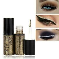 Shiny Eye Liners Cosmetic Pigment Silver Rose Gold Color Eyeliner Liquid Gl S9H2