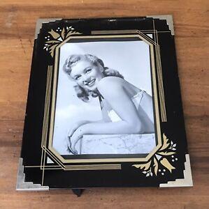 "Vintage Art Deco Picture Frame 10""×8"" w/ Image of Marilyn Monroe"