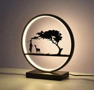 Modern Round LED Ring Table Lamp Desk Reading Lighting Home Decor Light New