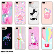 PERSONALISED UNICORN RAINBOW CUSTOM INITIALS OR NAME HARD PHONE CASE FOR IPHONE