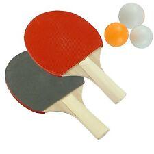 NUOVO giocatore 2 Tennis da Tavolo Ping pong Set include 3 PALLE due TONDA BAT Gioco UK
