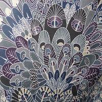 34cm x 1.37m Liberty Prints Lawn 'Eben' Cotton Dress Crafts Fabric Greys Blue