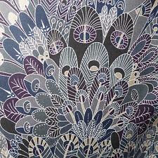 54cm x 1.37m Liberty Prints Lawn 'Eben' Cotton Dress Crafts Fabric Greys Blue