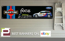FORD FOCUS RS mk1 Auto da Rally Banner XL per Officina, Garage, Martini Colin McRae