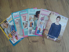 6 x Knitting Pattern Books & Booklets - 25 patterns for Ladies & home
