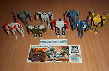 TRANSFORMERS COMPLETE SET WITH ALL PAPERS KINDER SURPRISE 2014