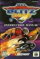 NFL Blitz 2000 - Authentic Nintendo 64 (N64) Manual