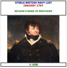 STEELS BRITISH NAVY LIST JANUARY 1797 CD ROM