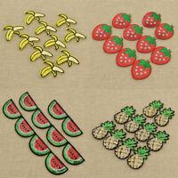 10pcs Sequins Fruit Patches Sewing Applique Clothes Bag Decoration Supplies DIY