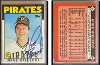 Mike Bielecki Signed 1986 Topps Traded #10T Card Pittsburgh Pirates Autograph