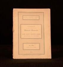 1913 Fine Illuminated Manuscripts Property of a Gentleman Sotheby Catalogue