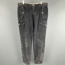 VIKTOR & ROLF Size 36 Gray Solid Cotton Blend Casual Pants