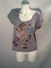Peace Generation Sz med gray casual wear graphic tees  Curiouser and Curiouser