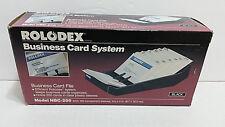 New Rolodex Business Card File System Nbc 200 Cards Amp Sleeves Vtg Nos Black Nib