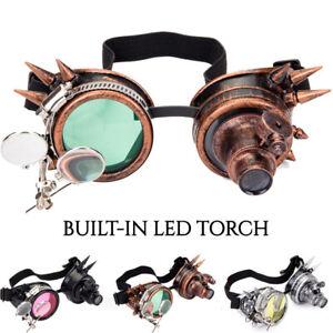 Steampunk Goggles Cyber Sunglasses Vintage Retro Glasses Welding Torch Gothic