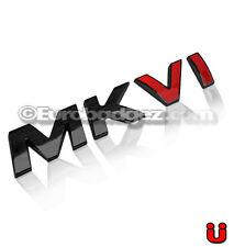 1 - NEW 3D Adhesive MKVI Gloss Black Emblem Badge 19mm fits VW MKVI BLACK RED VI