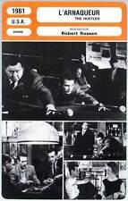 L'ARNAQUEUR - Newman,Gleason,Laurie,Rossen (Fiche Cinéma) 1961 - The Hustler