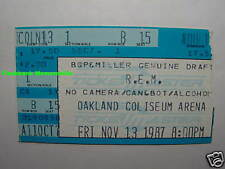 R.E.M. Concert Ticket Stub 1987 Oakland Coliseum Michael Stipe Very Rare