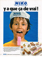 PUBLICITE ADVERTISING 024   1974    MIKO   glaces batonnets glacés