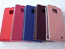 Cover case custodia pelle viola purple per Samsung i9100 Galaxy II 2 S2 2S 9100