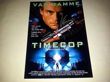 "TIMECOP PP SIGNED POSTER 12""X8"" JEAN CLAUDE VAN DAMME JCVD"