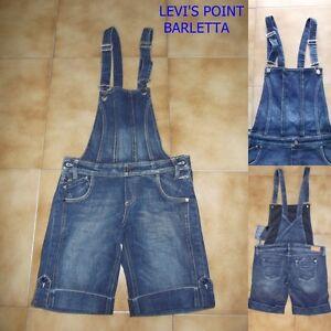 Salopette Jeans donna ragazza Stretch Corta Meltin'pot Azzurra Tg W26/40 W32/46
