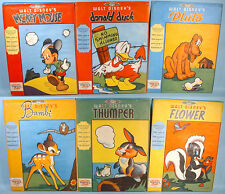 1942 Wartime Wall Plaques Complete Set of 6 w/Envelopes Walt Disney Mickey Bambi