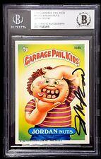 """JOHN POUND Signed 1986 Garbage Pail Kids """"JORDAN NUTS"""" #168B BAS SLABBED"""