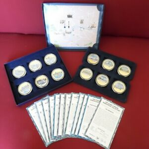 Iconic London NumisProof 24k Gold Plate Medallion Set with Certificates