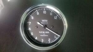 Smiths Tachometer 80 mm fitment M18x1.5 thread Replica 4 :1 (12000 rpm)