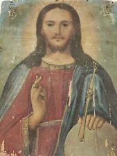 ANTIKE IKONE RUSSLAND 19-TES JHDT JESUS CHRISTUS ALS WELTHERRSCHER