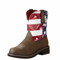 Ariat 10020076 Fatbaby Heritage Glory Stars & Stripes American Flag Cowgirl Boot