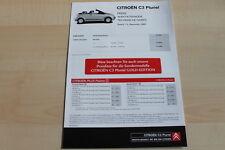 98586) Citroen C3 Pluriel - Preise & tech. Daten & Ausstattungen - Prospekt 12/2