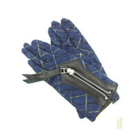 Vivienne Westwood gloves Navy Black Woman Authentic Used Y5735