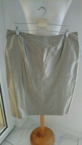 New Per Te by KRIZIA 100% silk pencil skirt - Taupe Beige - Plus size 23