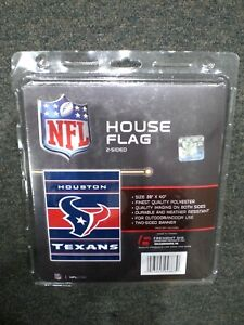"""NFL Houston Texans 28"""" x 40"""" House Flag/Banner 2 sided Indoor/Outdoor NEW LOOK!"""