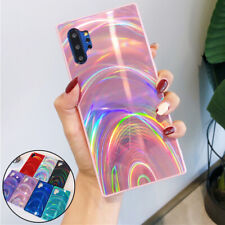 For Samsung Galaxy S20 Ultra S10 A51 A71 Gradient Rainbow Laser Case Phone Cover