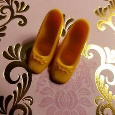 Vintage Square Tip Barbie Shoes Orange