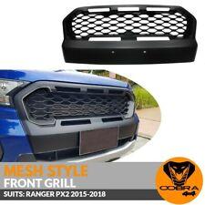 Front Mesh Grill Matte Black Bumper Bar Fits Ford Ranger PX2 2015 2016 2017 2018