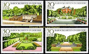 EBS East Germany DDR 1980 - Baroque Gardens Barockgärten Michel 2486-2489 MNH**
